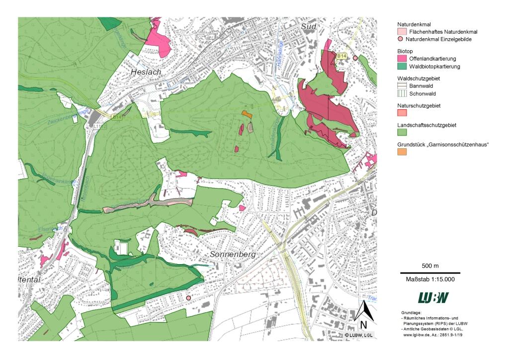 Karte 1 - Schutzgebiete und Lage